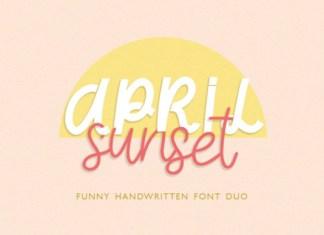 April Sunset Font