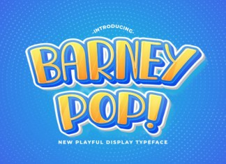 Barney Pop Font