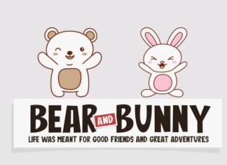 Bear And Bunny Font