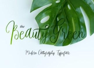 Beauty Green Font