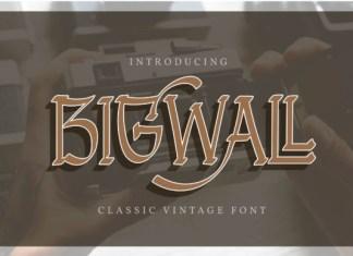 Bigwall Font