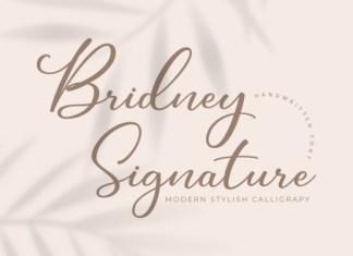 Bridney Signature Font