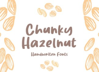Chunky Hazelnut Font