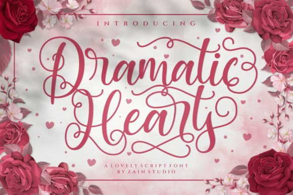 Dramatic Hearts Font