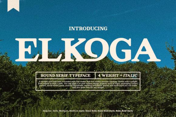 Elkoga Font