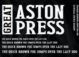 Great Aston Press Font