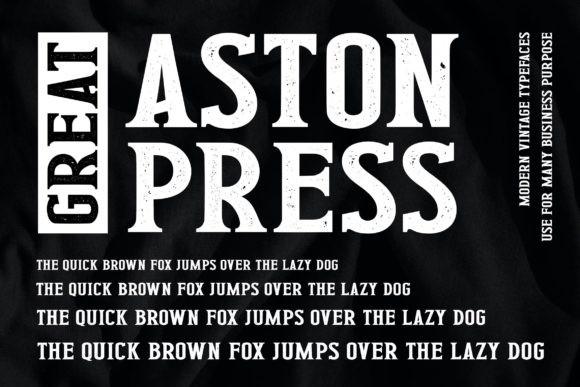 Great Aston Press Font