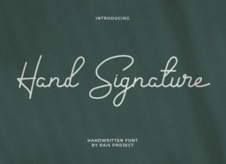 Hand Signature Font