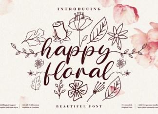 Happy Floral Font