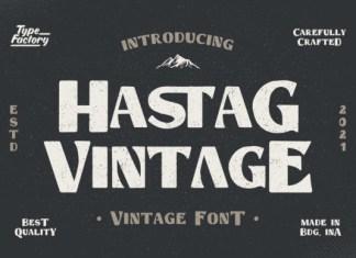 Hastag Vintage Font