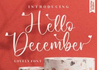 Hello December Font