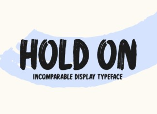 Hold On Font