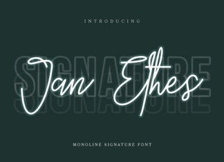 Jan Ethes Font