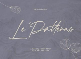 Le Patterns Font