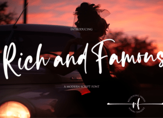 Rich and Famous Font