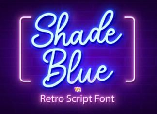 Shade Blue Font