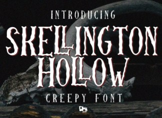 Skellington Hollow Font