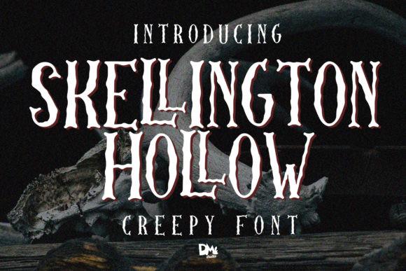 Skellington Hollow Font