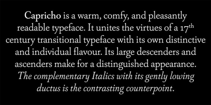 Capricho Font