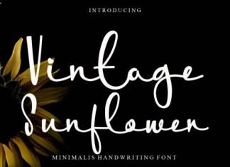 Vintage Sunflower Font