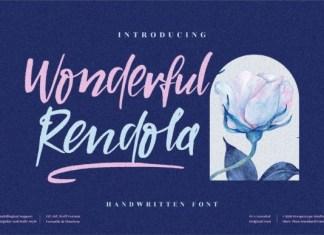 Wonderful Rendola Font