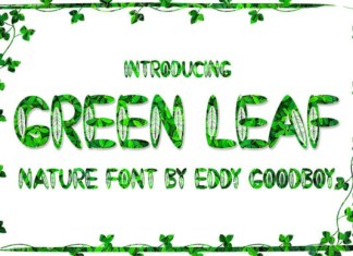 Green Leaf Font
