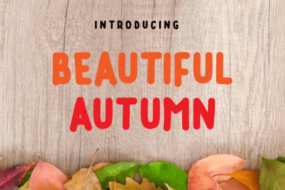 Beautiful Autumn Font