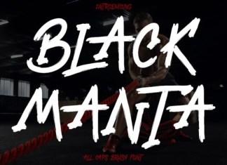 Black Manta Font