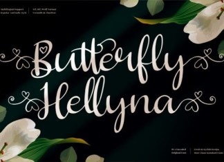 Butterfly Hellyna Font