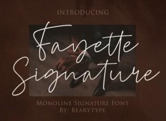 Fayette Signature Font