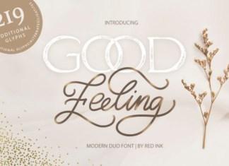 Good Feeling Font