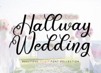 Hallway Wedding Font