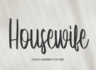 Housewife Font