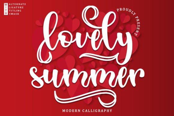 Lovely Summer Font