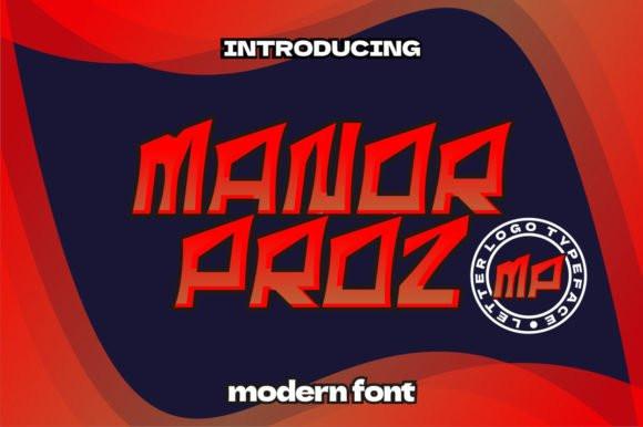 Manor Proz Font