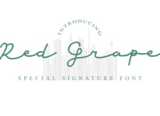Red Grape Font