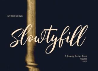 Slowtyfill Font
