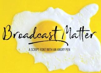 Broadcast Matter Font
