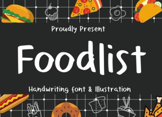 Foodlist Illustration Font