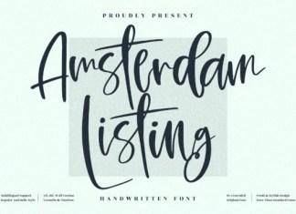 Amsterdam Listing Font