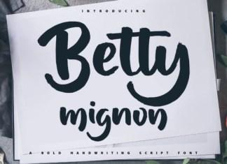 Betty Mignon Font