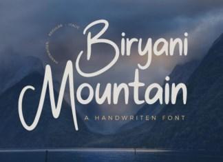 Biryani Mountain Font