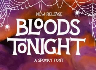 Bloods Tonight Font