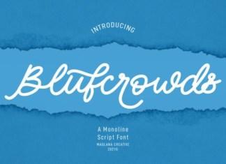 Blufcrowds Font