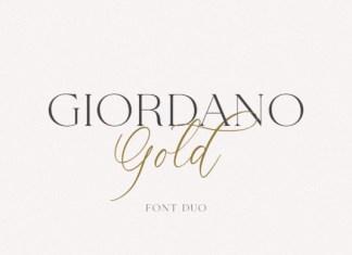 Giordano Gold Font