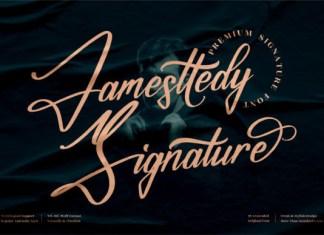 Jamesttedy Signature Font