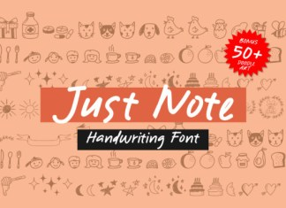 Just Note Font