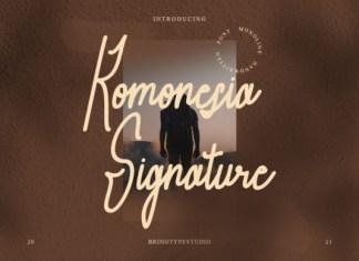 Komonesia Signature Font