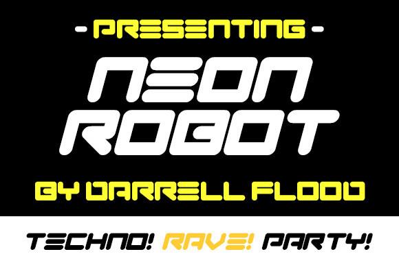 Neon Robot Font