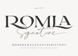 Romla Signature Font
